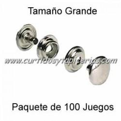 Broche Automatico (o de presion) Ref. 8100 Niquel (pack 100 Juegos)