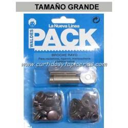Broche Automatico en Blister Pack (utiles incluidos) Cobre Viejo