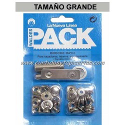 Broche Automatico Ref. 8100 en Blister Pack (utiles incluidos) Niquel