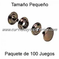 Broche Automatico (o de presion) Ref. 8020 Cobre Viejo (pack 100 Juegos)