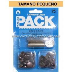 Broche Automatico Ref. 8020 en Blister Pack (utiles incluidos) Cobre Viejo