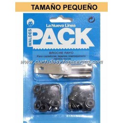 Broche Automatico Ref. 8020 en Blister Pack (utiles incluidos) Pavonado