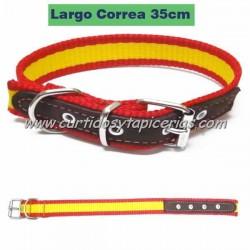 Collar de Perro con Bandera de España (35cm)