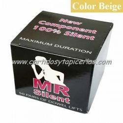 Tapitas MR Silent color Beige (Caja de 50 Pares)