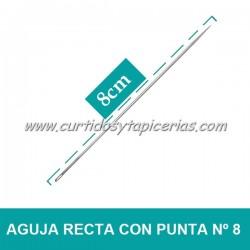 Agujas Rectas con Punta Nº 8