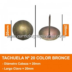 Tachuela Bronceada Nº 20