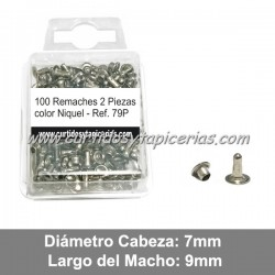 Blister de Remaches Pequeños-Largos 2 Piezas (Macho y Hembra) Ref. 79