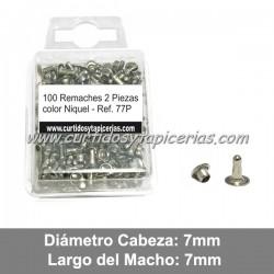 Blister de Remaches Pequeños-Largos 2 Piezas (Macho y Hembra) Ref. 77