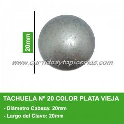 Tachuela Color Plata Vieja Nº 20